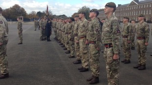 Royal Anglian's and their children honoured at medal parade
