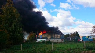 Major fire at Hereford industrial estate