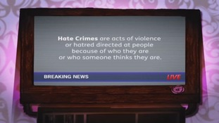 The film explains what hate crimes are.