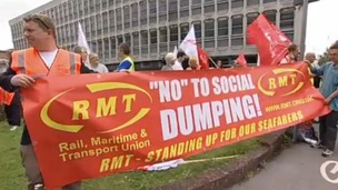 RMT workers on strike