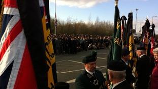 Brize Norton veterans flags