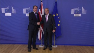 David Cameron with European Commission President Jean-Claude Juncker.