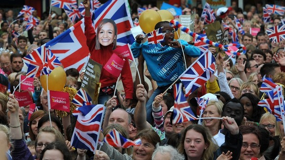 Fans at Jessica Ennis' homecoming