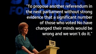 Nicola Sturgeon addressing the SNP National Conference today