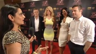 Divya talks to X Factor judges
