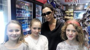 Victoria Beckham surprises fans in Nailsworth