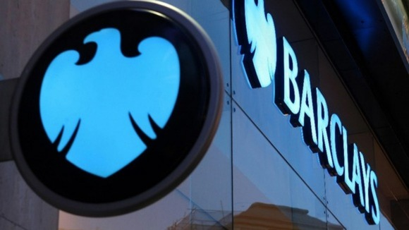 A Barclays bank sign