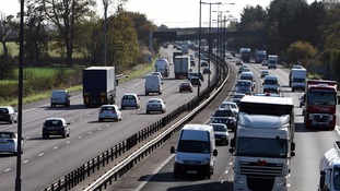 Stock photo of motorway traffic