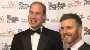Prince William and Gary Barlow