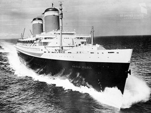 SS United States on her sea trials, June 10, 1952
