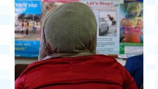 A trafficking victim seeks refuge