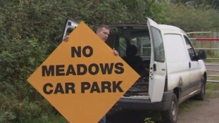 Campaigners say the planned car park would ruin a beautiful meadow.