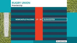 Gloucester clinched a win tonight.