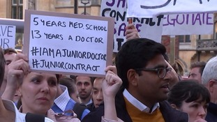 Junior doctors marched on Downing Street last month in protest over contract change plans.