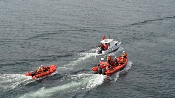 Lifeboats in rescue