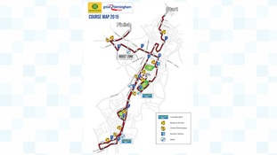 Route for the Great Birmingham Run
