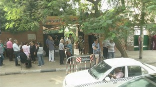 Egyptians begin voting in first parliamentary election.