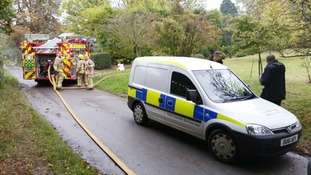 Emergency services at the scene at Offley, near Hitchin.