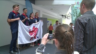 Olympians at special Suffolk reception