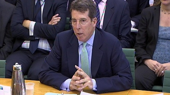 Bob Diamond giving evidence to the Treasury Select Committee in July