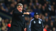 Sam Allardyce gestures on the touchline at The Hawthorns