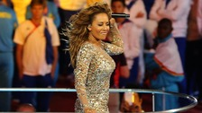 Mel B performing during the Closing Ceremony of London 2012