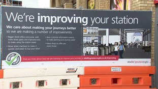 There is £4m of improvement work being carried out at Cambridge station.