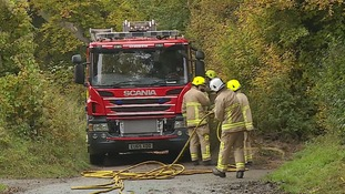 Firefighters are investigating the cause of the fire at Offley, Hertfordshire.