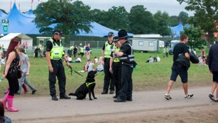 Police on duty at V Festival