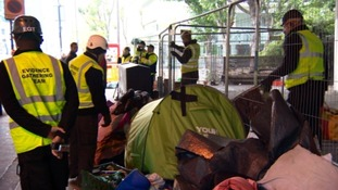 Rough sleepers evicted from homeless camp at Manchester Metropolitan University