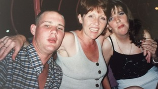 Barbara Lawrence, middle, with daughter Rachael and son Paul - taken two weeks before his death in 2001