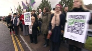 Caerphilly council protest