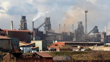 Scunthorpe steelworks loom over the town