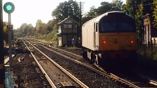 The freight train which led to cancelled services