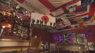 70,000 poppies in pub's tribute to military heroes