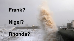 crashing waves at New Brighton 10.12.2014