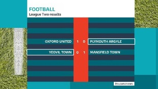 Bad news for Argyle and Yeovil fans.