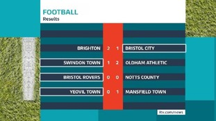 Losses for City, Swindon and Yeovil