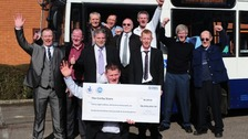 Each of the 12 bus drivers won £3.1 million