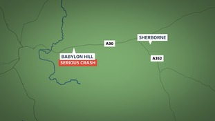 Sherborne crash map