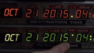 A scene from Back to the Future which has been recreated in the city that built the famous DeLorean cars