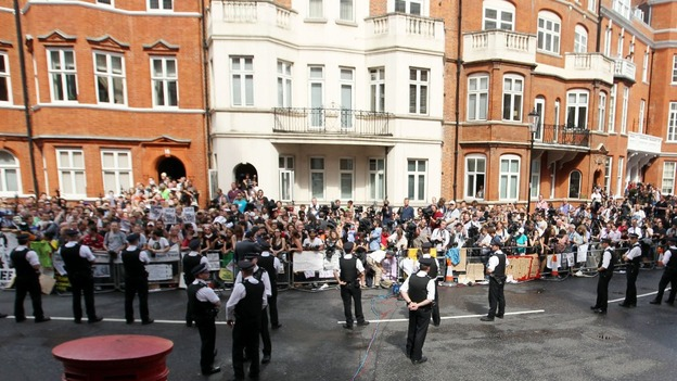 Ecuadorian embassy in London.