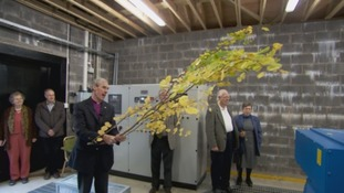 The Bishop of Carlisle opened the new plant.