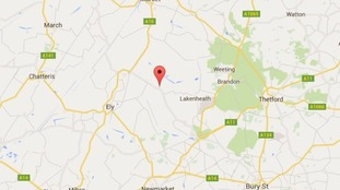 Police attended a plane crash in Redmere, not far from Lakenheath