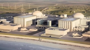 An artist's impression of the how the new Hinkley Point C station will look