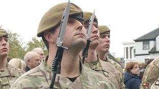 Hundreds turn out for Royal Anglians' homecoming parade