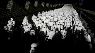 Star Wars Stormtroopers at the Great Walls of China