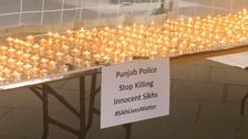 Candlelit vigil held in Leicester to remember those killed and injured in recent protests in the Punjab region of India