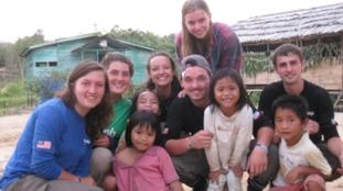 Keyon volunteering abroad