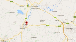 The man was shot in St Neots, Cambridgeshire